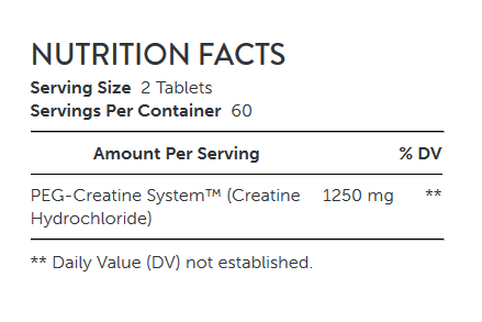 NUTRITION FACTS AMP Amplified Creatine 189- NUTRITION FACTS
