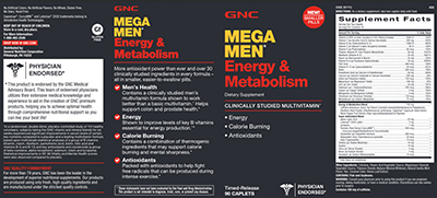 GNC Mega Men Energy & Metabolism