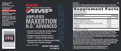 GNC Pro Performance AMP Amplified Maxertion N.O Advanced