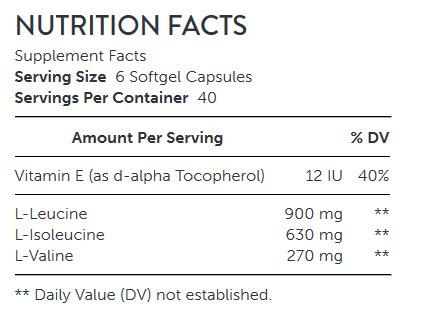 آمینو 1000 جی ان سی NUTRITION FACTS