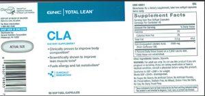 NUTRITION FACTS GNC-Total-Lean™-CLA