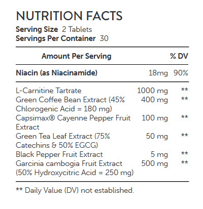 NUTRITION FACTS GNC-Total-Lean™-L-Carnitine-Complex