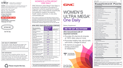 GNC Women's Ultra Mega One Daily