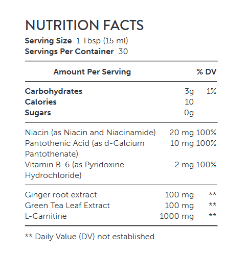 NUTRITION FACTS NUTRITION FACTS Liquid L-Carnitine - Iced Tea with Lemon